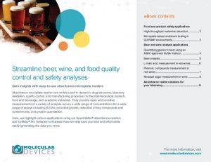 ebook nuevo de Molecular Devices centrado en el uso de lectores de absorbancia para el sector de alimentación