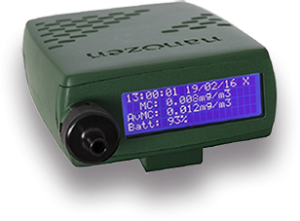 DustCount 9000, Ideal para monitorización de la fracción respirable en ambientes de exposición a sílice